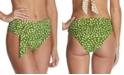 Raisins Juniors' Azore Island Printed Halfmoon High-Waist Bikini Bottoms