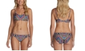 Raisins Juniors' Printed Bikini Top & Side-Tie Bottoms