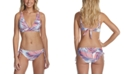 Raisins Juniors' Printed Bikini Top & Side-Tie Bottoms, Created For Macy's