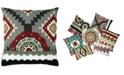 "Mod Lifestyles Southwest Collection Kayali Aztec Embroidery Pillow, 20"" X 20"""