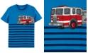 Carter's Toddler Boys Striped Firetruck-Print Cotton T-Shirt