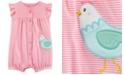 Carter's Baby Girls Striped Chicken Cotton Romper