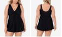 Miraclesuit Plus Size Marais Allover-Slimming Twist-Front Swimdress