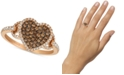 Le Vian Chocolatier® Diamond Heart Statement Ring (1/2 ct. t.w.) in 14k Rose Gold