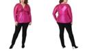 Maree Pour Toi Plus Size Twist-Front Top
