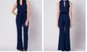 Wanderlux Solid Sleeveless Belted Jumpsuit