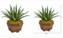 Nearly Natural 17in. Aloe Artificial Plant in Decorative Planter
