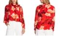 Vince Camuto Floral-Print Tie-Neck Top