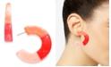 "INC International Concepts INC Medium Colorblock Open Hoop Earrings, 1.7"", Created for Macy's"