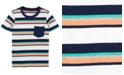 Carter's Toddler Boys Cotton Striped Pocket T-Shirt