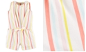 Carter's Baby Girls Striped Twill Romper
