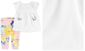 Carter's Baby Girls 2-Pc. Embroidered Top & Printed Leggings Set