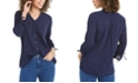 Charter Club Gauzy Tie-Sleeve Blouse, Created for Macy's