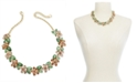 "Charter Club Gold-Tone Crystal Hydrangea Statement Necklace, 17"" + 2"" extender, Created for Macy's"