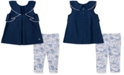 Calvin Klein Toddler Girls 2-Pc. Chambray Tunic & Printed Leggings Set