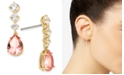 Eliot Danori 18k Gold-Plated Cubic Zirconia & Glass Drop Earrings, Created for Macy's