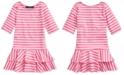 Polo Ralph Lauren Toddler Girls Striped Stretch Jersey Dress