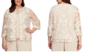 Alex Evenings Plus Size Layered-Look Embroidered Jacket Top