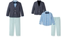 Nautica Toddler Boys 4-Pc. Solid Oxford Duo Set