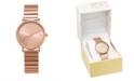 Charter Club Women's Rose Gold-Tone Expansion Bracelet Watch 34mm