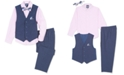 Nautica Toddler Boys 4-Pc. Heather Poplin Vest Set