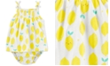 Carter's Baby Girls Lemon-Print Cotton Sunsuit