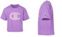 Champion Big Girls Gingham Logo Boxy T-Shirt