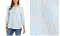 Style & Co Cotton Peasant Blouse, Created for Macy's