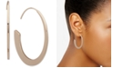 """Anne Klein Gold-Tone Medium Threader Hoop Earrings, 1.5"""""""