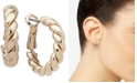Anne Klein Gold-Tone Small Twisted Tube Hoop Earrings, 0.8""