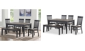 Steve Silver Raven Noir 6-Pc. Dining Set, (Dining Table, 4 Side Chairs & Bench)