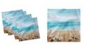 "Ambesonne Seashells Set of 4 Napkins, 12"" x 12"""