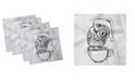 "Ambesonne Owl Print Set of 4 Napkins, 12"" x 12"""