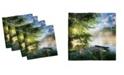 "Ambesonne Landscape Set of 4 Napkins, 12"" x 12"""