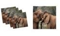 "Ambesonne Safari Set of 4 Napkins, 12"" x 12"""