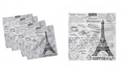 "Ambesonne Paris Set of 4 Napkins, 12"" x 12"""
