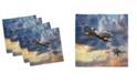 "Ambesonne Airplane Set of 4 Napkins, 12"" x 12"""