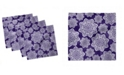 "Ambesonne Retro Flower Set of 4 Napkins, 12"" x 12"""