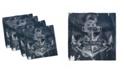 "Ambesonne Marine Set of 4 Napkins, 12"" x 12"""