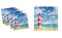 "Ambesonne Beach Set of 4 Napkins, 12"" x 12"""