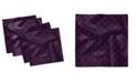 "Ambesonne Dark Flowers Set of 4 Napkins, 12"" x 12"""