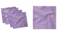 "Ambesonne Checkered Set of 4 Napkins, 12"" x 12"""