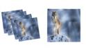 "Ambesonne Wolf Set of 4 Napkins, 12"" x 12"""
