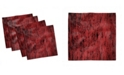 """Ambesonne Grungy Abstract Set of 4 Napkins, 12"""" x 12"""""""