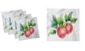 "Ambesonne Apple Set of 4 Napkins, 12"" x 12"""