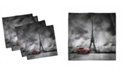 "Ambesonne Eiffel Tower Set of 4 Napkins, 18"" x 18"""