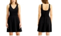 City Studios Juniors' V-Neck Fit & Flare Dress
