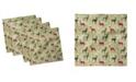 "Ambesonne Deer Set of 4 Napkins, 18"" x 18"""