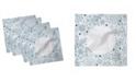 """Ambesonne Xmas Snowflakes Set of 4 Napkins, 18"""" x 18"""""""