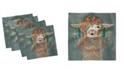 "Ambesonne Llama Set of 4 Napkins, 18"" x 18"""